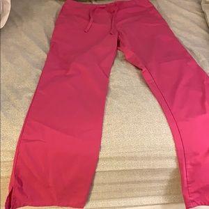 Pink Cherokee scrub pant